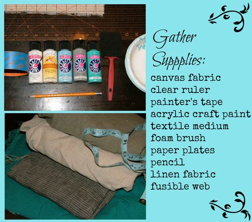 Canvas pillow supplies