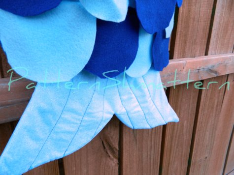 Fish costume 7 tail closeup