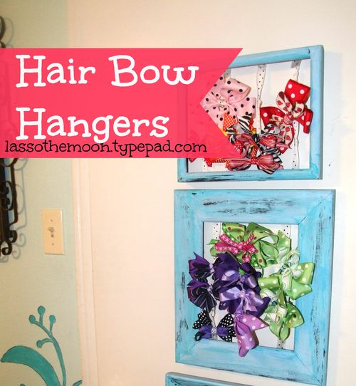 Hair Bow Hangers from Picture Frames