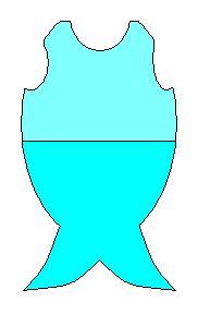 Fish costume pattern