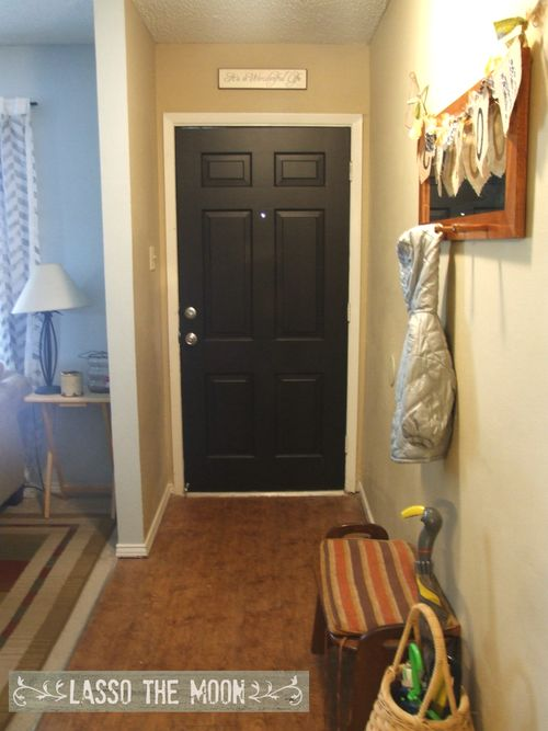 After painted door in entry