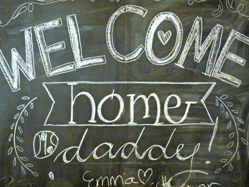 Daddys chalkboard message