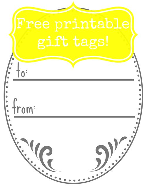 Free printable sweet grey tag