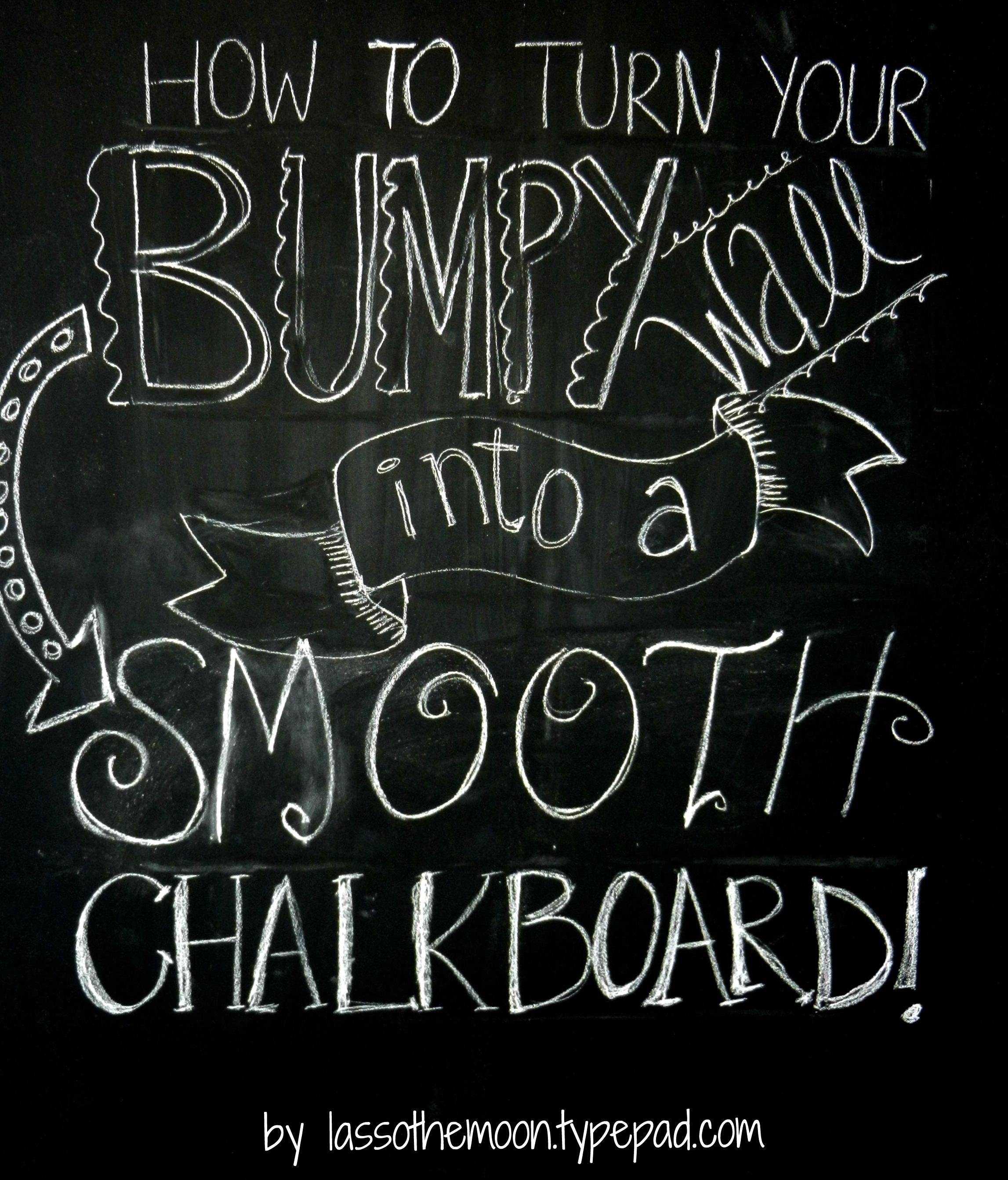Chalkboard Wall How To Title