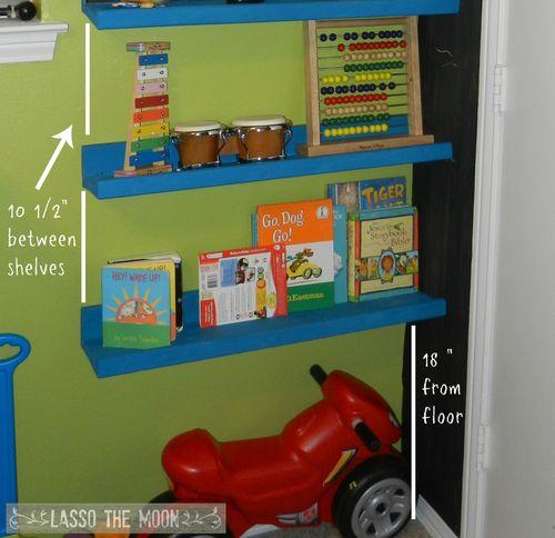 Display shelves6