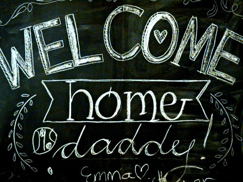 Daddys chalkboard messageb