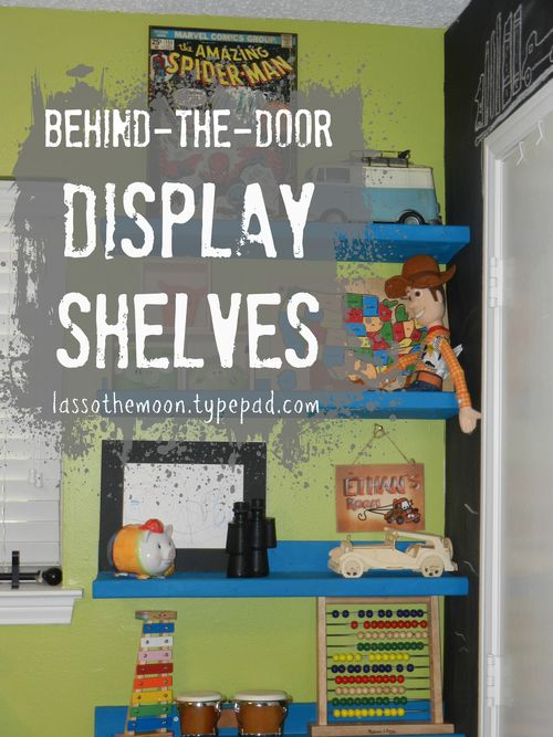 Diy display shelves fit behind a door