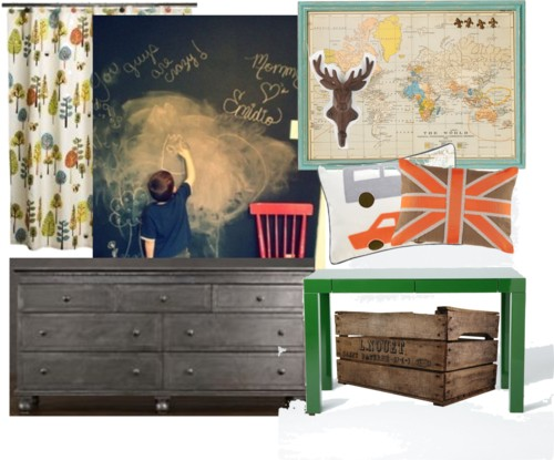 Boys room mood board