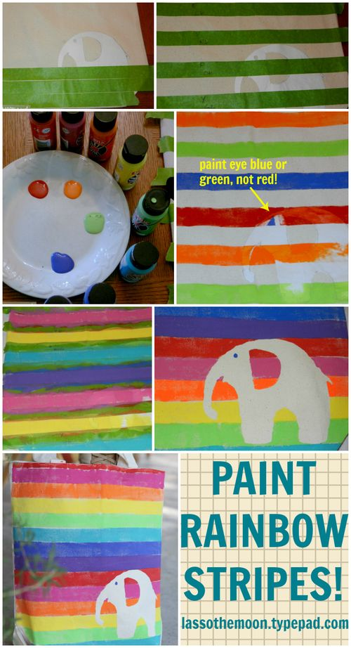 How to paint rainbow stripes