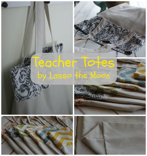 Teacher tote sale collage