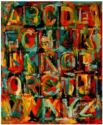 Jasper johns colored alphabet