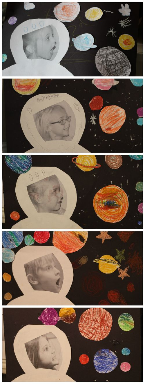 Space kid collage