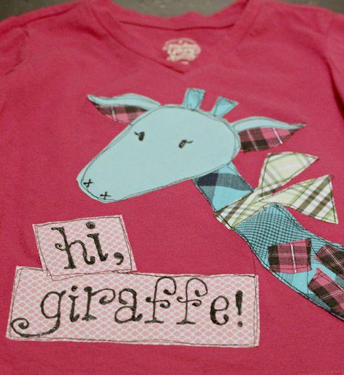 Hi giraffe shirt