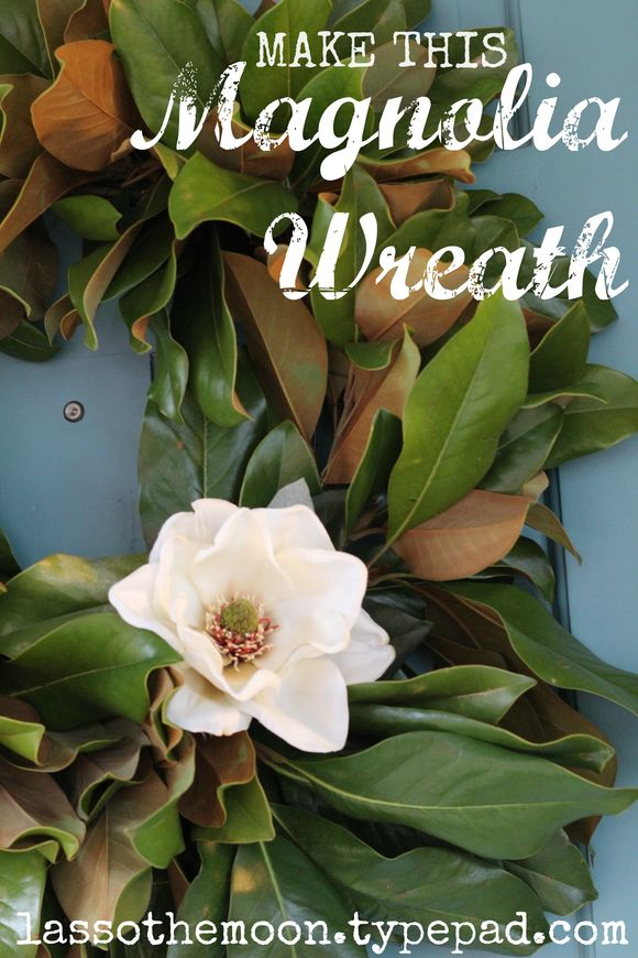 Make this magnolia wreath just like the ones on Fixer Upper