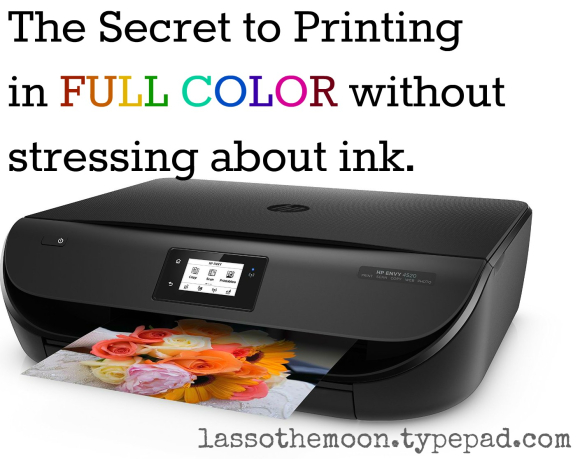 The perfect solutions for teachers and homeschool moms who love to print in color, but have to stick to a budget